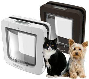 Dvířka pro psy s mikročipem SureFlap - hnědá