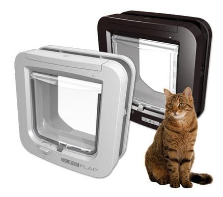 Dvířka pro kočky s mikročipem SureFlap - hnědá