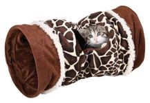TUNEL pro kočky VELVET 22cm/50cm vzor žirafa