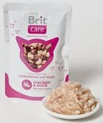 BRIT CARE cat kapsa 80g CHICKEN/duck