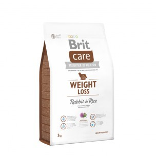 BRIT CARE dog new WEIGHT loss rabbit 3kg