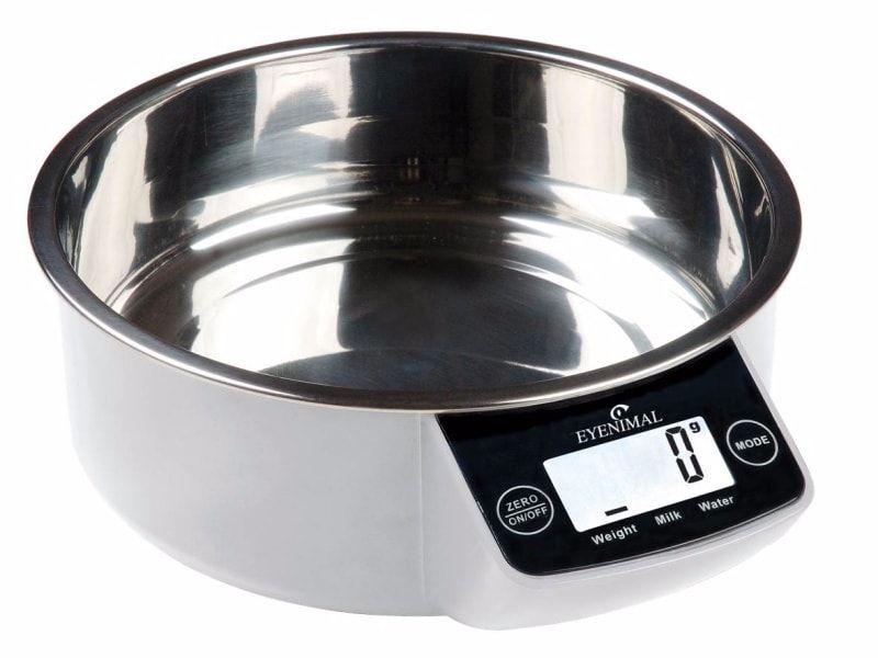 Miska pro psy s váhou EYENIMAL 1,8 litrů - černá
