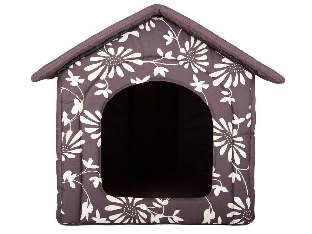 Domeček pro psa Reedog Brown Flower - M