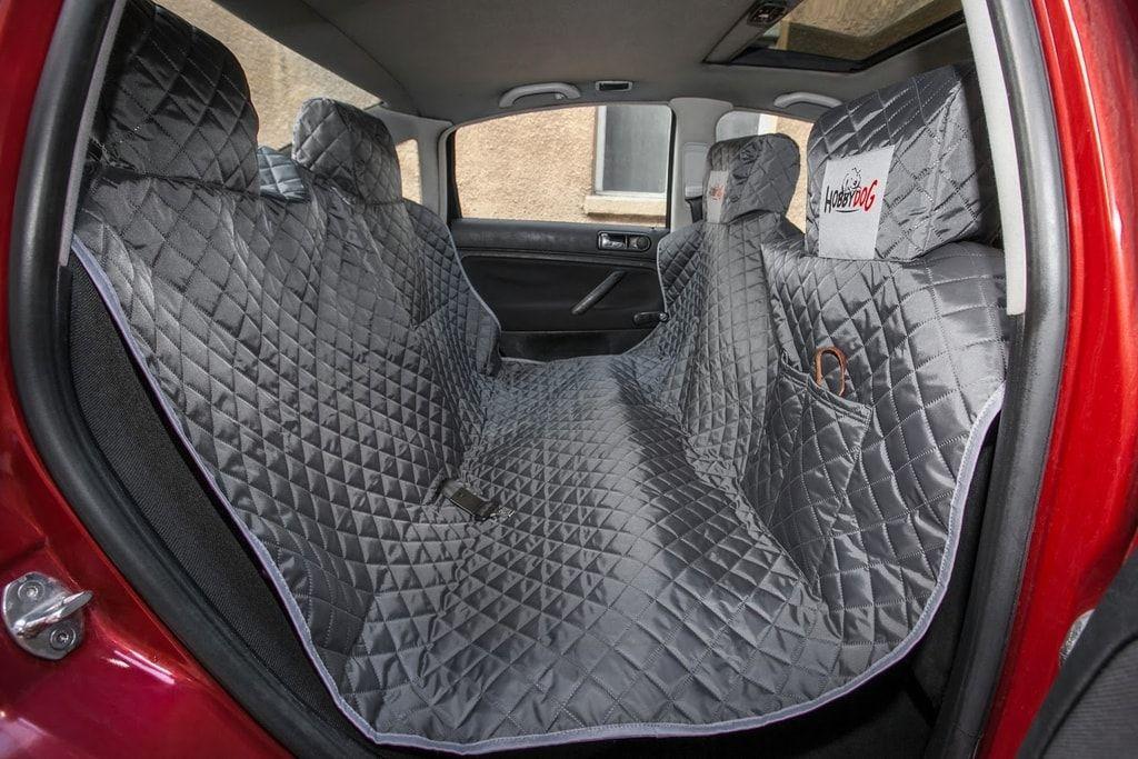 Reedog ochranný autopotah do auta pro psy na zip + boky - šedý - M