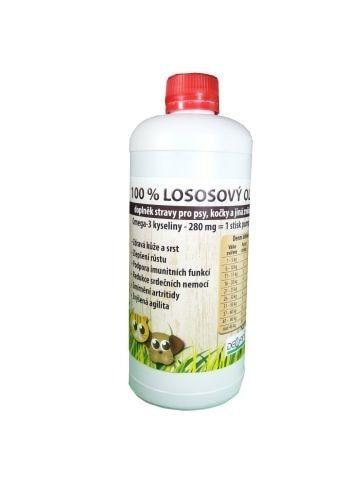 100% Lososový olej pro psy a kočky