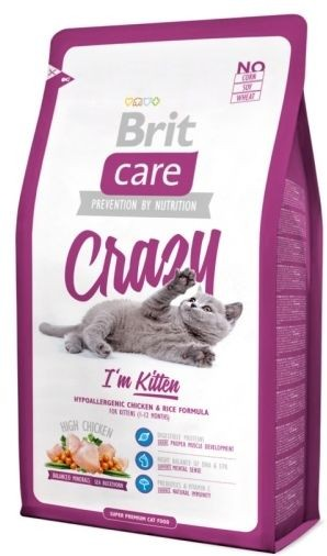 BRIT CARE cat KITTEN - CRAZY 7 kg