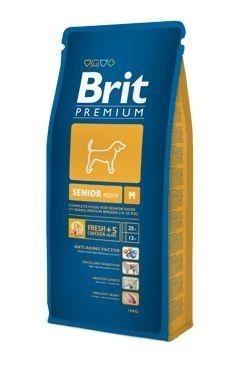 Granule pro psa Brit dog Premium Senior M 15kg