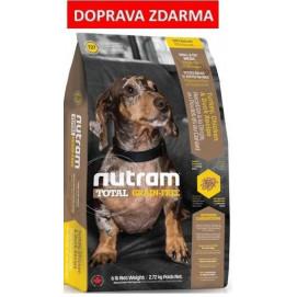 T27 Nutram Total Grain Free Turkey Chicken Duck Dog - bezobilné krmivo, krůta, kuře a kachna, pro psy malých plemen 6,8 kg