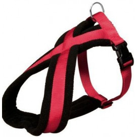 Postroj (trixie) PREMIUM podšitý červený 1,5/30-40cm