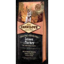 Brit CARNILOVE PUPPY large SALMON/turkey 1,5 kg