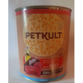 PETKULT dog konz. JUNIOR hovězí 800g (5+1ks)