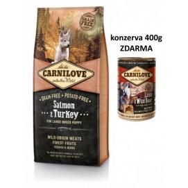 Brit CARNILOVE PUPPY large SALMON/turkey 12 kg
