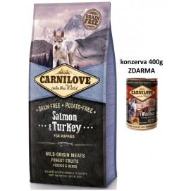 Brit CARNILOVE PUPPIES SALMON/turkey 12kg