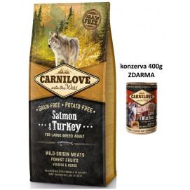 Brit CARNILOVE ADULT large SALMON/turkey 12 kg