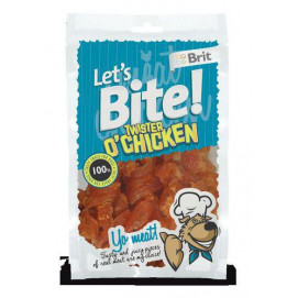 BRIT let's dog TWISTER O'CHICKEN 80g