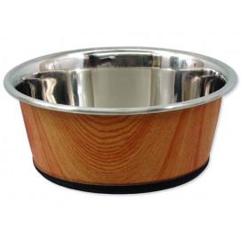 Miska DOG FANTASY nerezová kulatá potisk dřevo 350ml