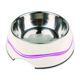 Miska DOG FANTASY nerezová kulatá purpurové vlnky 27 cm 1400ml