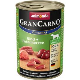 Animonda Gran Carno hovězí / kachní srdce 400g
