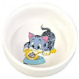 Miska (trixie) keramická, 0,3l/11cm - malovaná/kočka/motiv