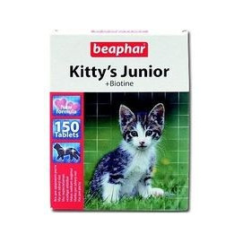 Beaphar cat poch. KITTYS JUNIOR biotin 150tbl