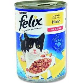 FELIX cat konzerva kuře v želé 400g