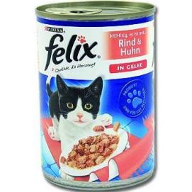 FELIX cat konzerva hovězí+kuře v želé 400g