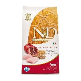 N&D low grain cat ADULT CHICKEN/pomergranate 5 kg