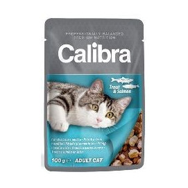 CALIBRA cat kapsa ADULT 100g TROUT/salmon