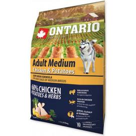 ONTARIO dog ADULT MEDIUM chicken 12kg