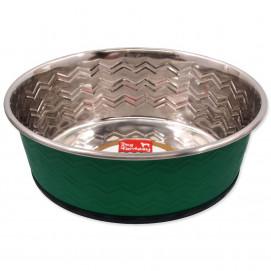 Miska DOG FANTASY nerezová kulatá zelená 1900 ml
