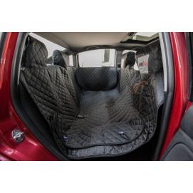 Reedog ochranný autopotah do auta pro psa na zip + boky - černý