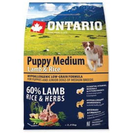 ONTARIO dog PUPPY MEDIUM lamb 6,5 kg