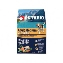ONTARIO dog ADULT MEDIUM fish 12 kg