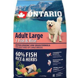 ONTARIO dog ADULT LARGE fish 12 kg