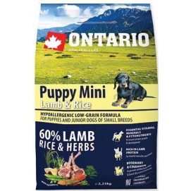 ONTARIO dog PUPPY MINI lamb 2,5 kg
