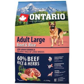 ONTARIO dog ADULT LARGE beef and turkey 2,5 kg