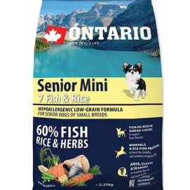 ONTARIO dog SENIOR MINI fish 2,5 kg