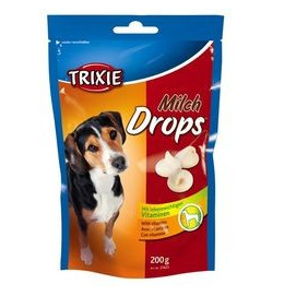 Trixie dog poch. drops MILCH 200g
