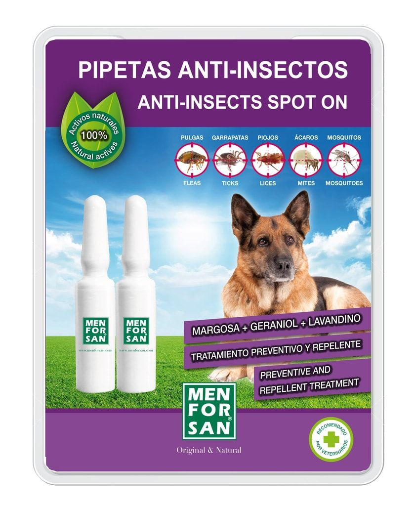 Antiparazitní pipety pro psa Menforsan 2ks