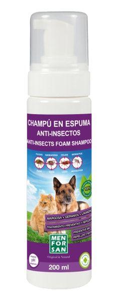 Repelentní pěnový šampon pro psy a kočky Menforsan s margosou
