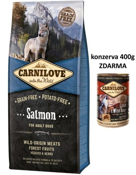 Brit CARNILOVE ADULT SALMON 12 kg + konzerva Carnilove 400g ZDARMA