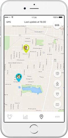 Mishiko GPS obojek a měřič aktivity - černá