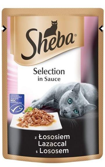 SHEBA SELECTION 85g LOSOS/ve šťávě