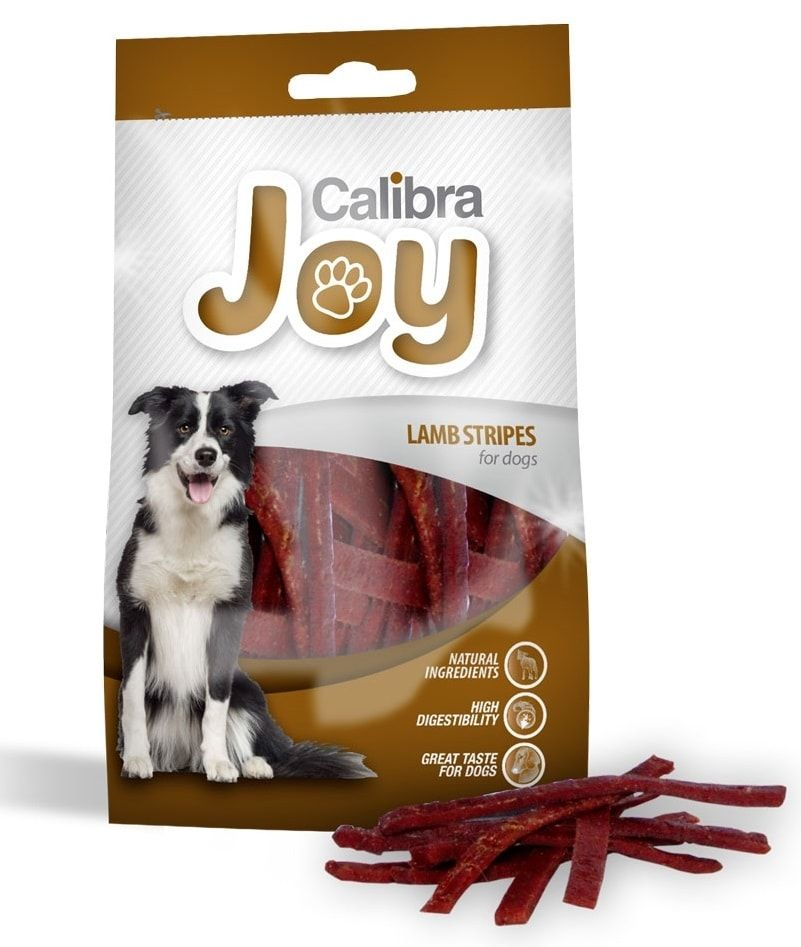 Calibra Joy Dog Lamb Stripes 80g