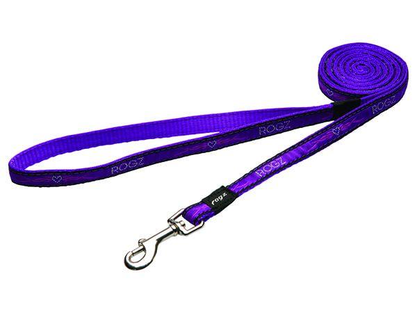 Vodítko ROGZ Fancy Dress Purple Chrome M