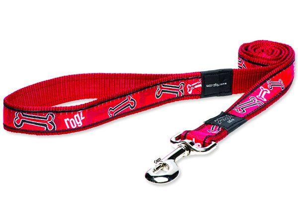 Vodítko ROGZ Fancy Dress Red Bone XL