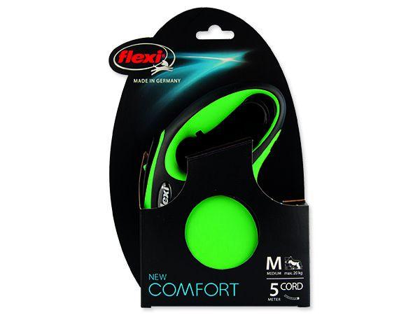 Vodítko FLEXI Comfort New lanko zelené M - 5 m