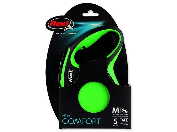 Vodítko FLEXI Comfort New páska zelené M