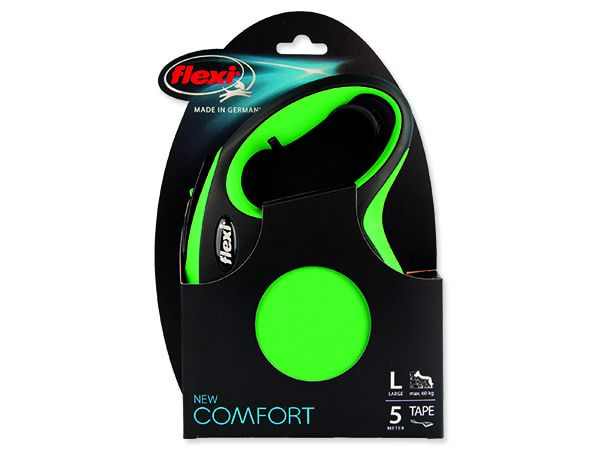 Vodítko FLEXI Comfort New páska zelené L - 5 m