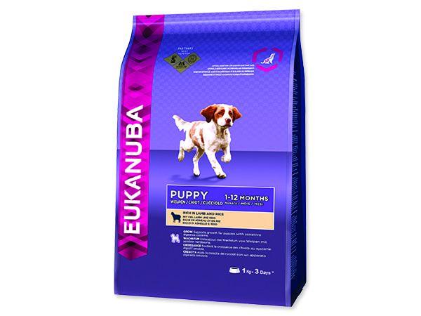 EUKANUBA Puppy & Junior Lamb & Rice 1kg